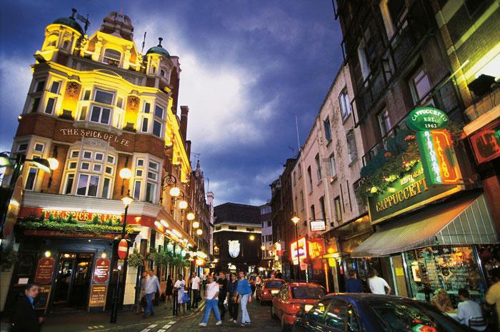Сохо- это район Лондона